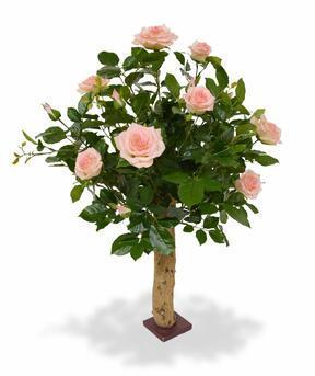 Umělá rostlina Růže růžová 75 cm
