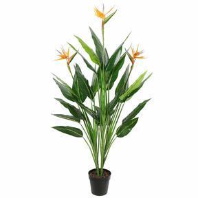 Umělá rostlina Strelície kvetoucí 150 cm
