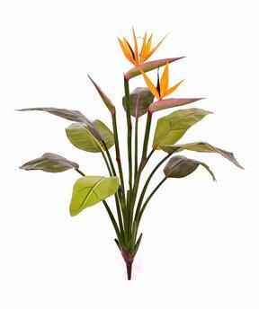 Umělá rostlina Strelície kvetoucí 75 cm