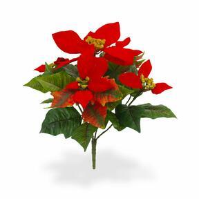 Umělá rostlina Vánoční růže červená 25 cm