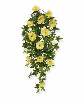 Umělá úponka Petunie žlutá 70 cm