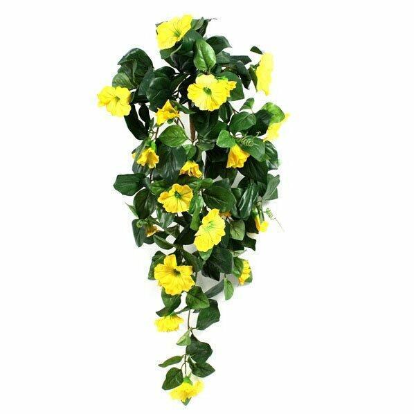 Umělá úponka Petunie žlutá 80 cm