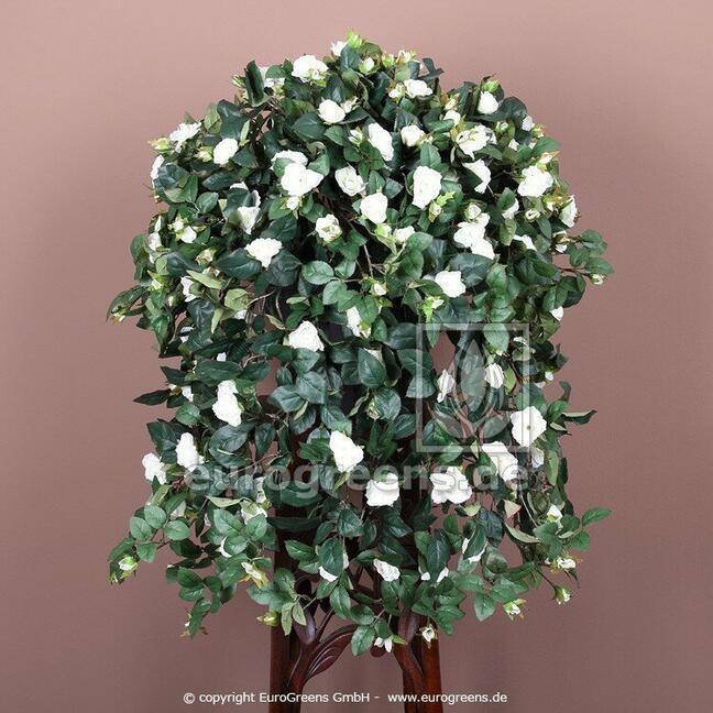 Umělá úponka Růže bílá 70 cm