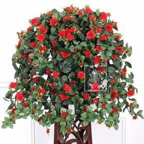 Umělá úponka Růže červená 70 cm