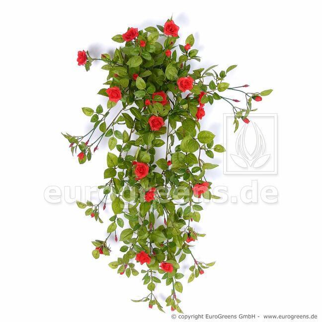 Umělá úponka Růže červená 85 cm