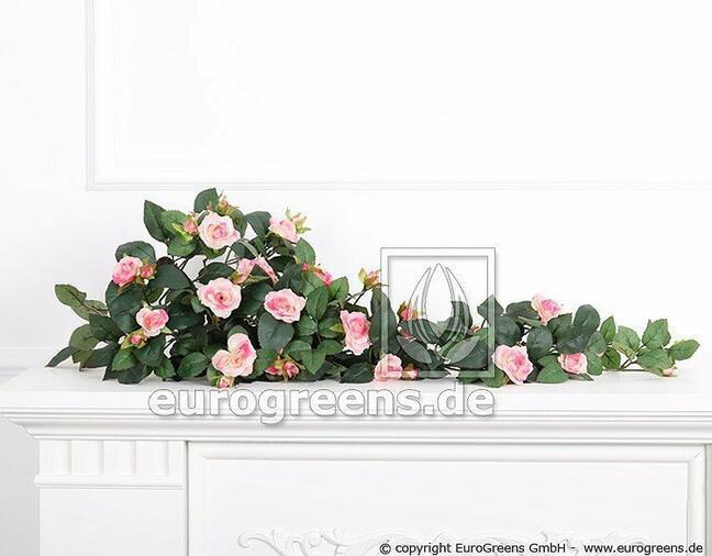 Umělá úponka Růže růžová 70 cm