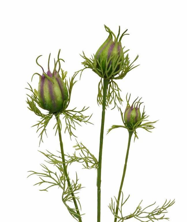 Umělá větev Černucha zeleno-fialová 55 cm