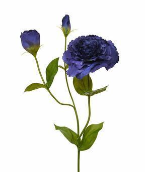 Umělá větev Eustoma modrá 80 cm