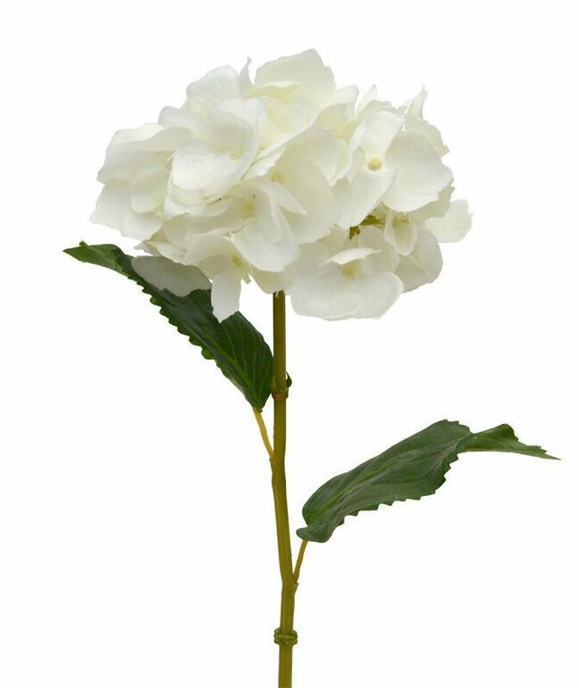 Umělá větev Hortenzie krémová 45 cm