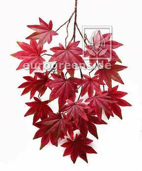 Umělá větev Javor načervenale-hnědá 80 cm