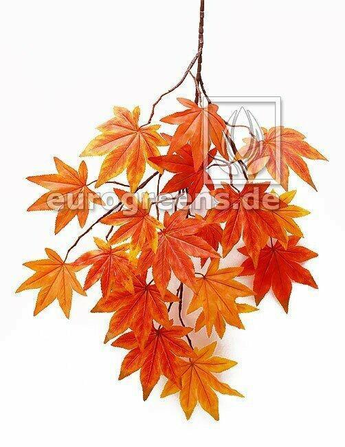 Umělá větev Javor oranžovo-červená 80 cm