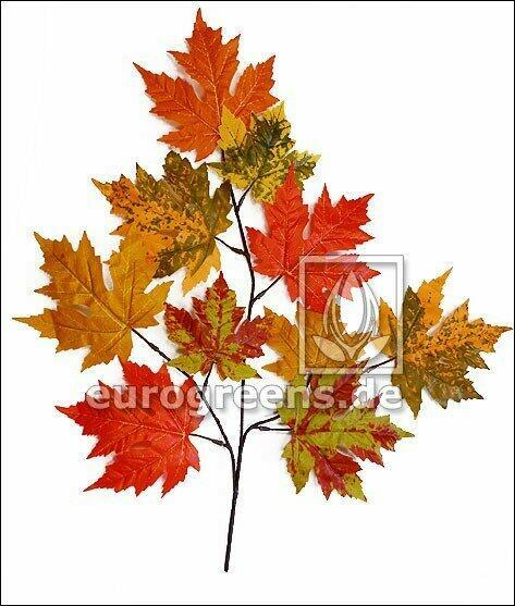 Umělá větev Javor podzimní 55 cm