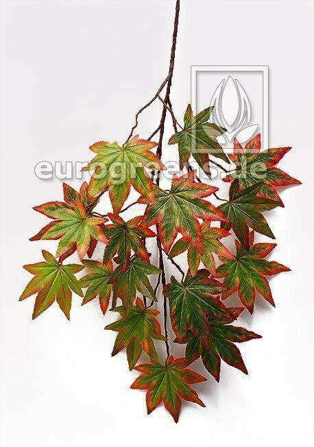 Umělá větev Javor podzimní zelená 80 cm