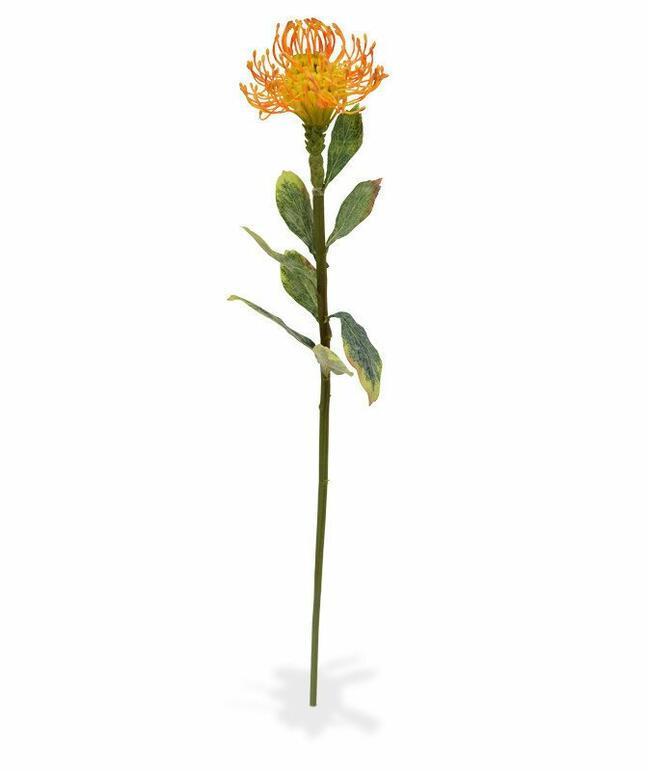 Umělá větev Leucadendron oranžová 60 cm