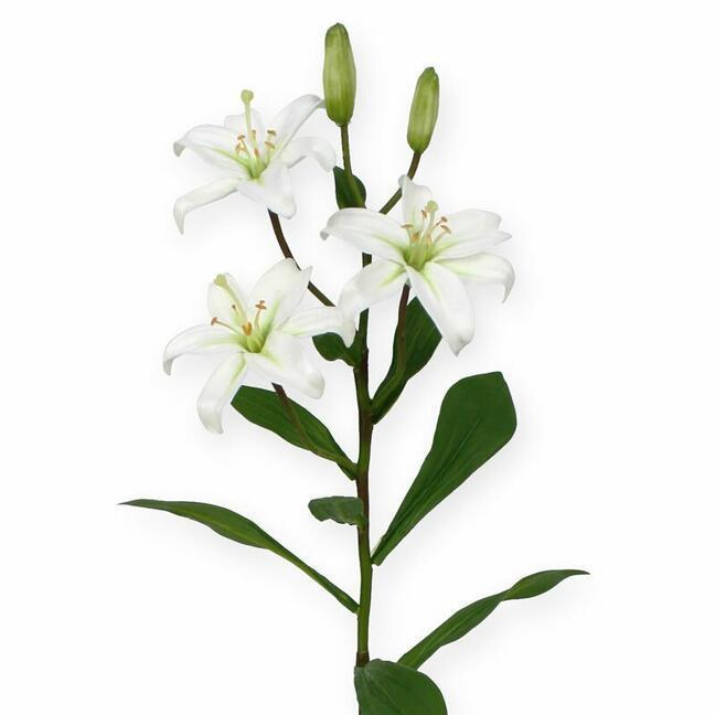 Umělá větev Lilie bílá 50 cm
