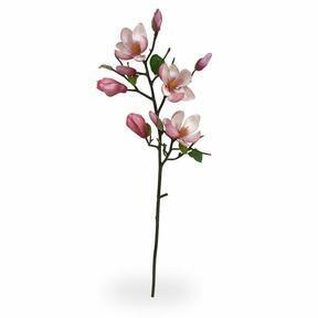 Umělá větev Magnolie růžová 80 cm