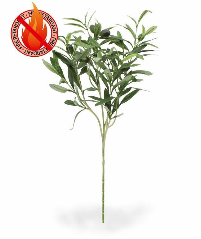 Umělá větev Olivovník s olivami 54 cm