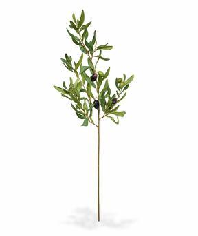 Umělá větev Olivovník s olivami 85 cm