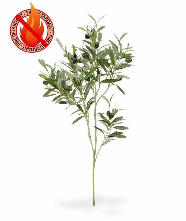 Umělá větev Olivovník s olivami 90 cm