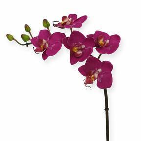 Umělá větev Orchidej fialová 50 cm