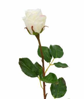 Umělá větev Růže bílá 52 cm