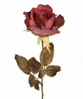 Umělá větev Růže červená 60 cm