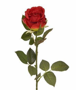 Umělá větev Růže červená 74 cm