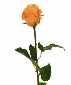 Umělá větev Růže oranžová 52 cm