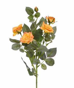 Umělá větev Růže oranžová 72 cm