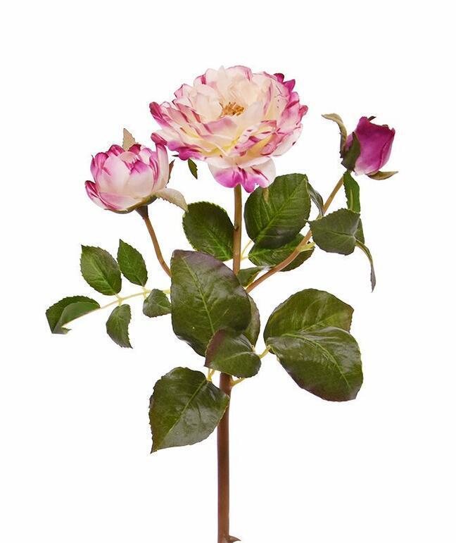 Umělá větev Růže růžová 50 cm