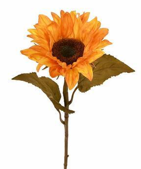 Umělá větev Slunečnice oranžová 65 cm