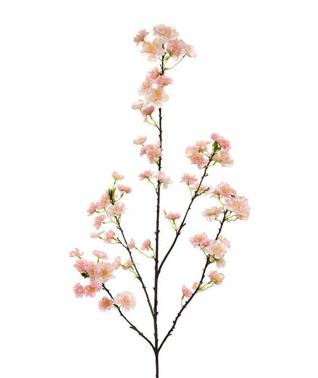 Umělá větev Třešeň růžová 125 cm