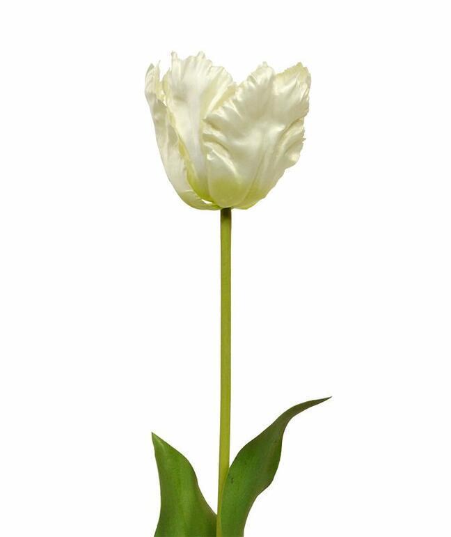Umělá větev Tulipán krémový 70 cm