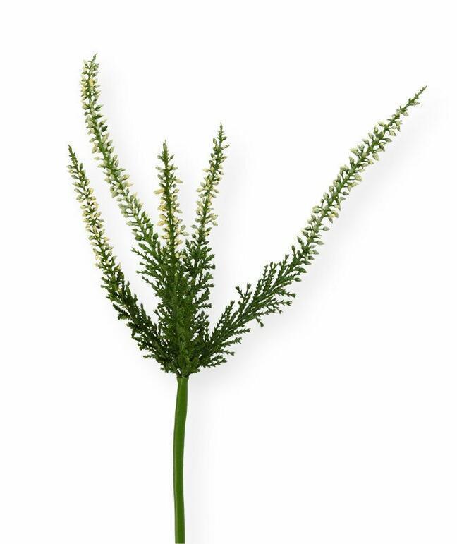 Umělá větev Vřesovec krémová 56 cm