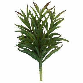 Umělá větvička Dianthus zelená 17,5 cm