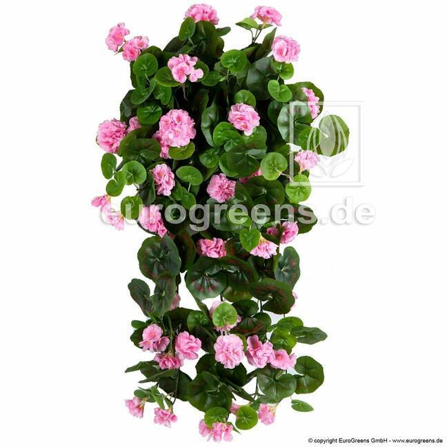 Umělé úponka Pelargónie růžová 70 cm