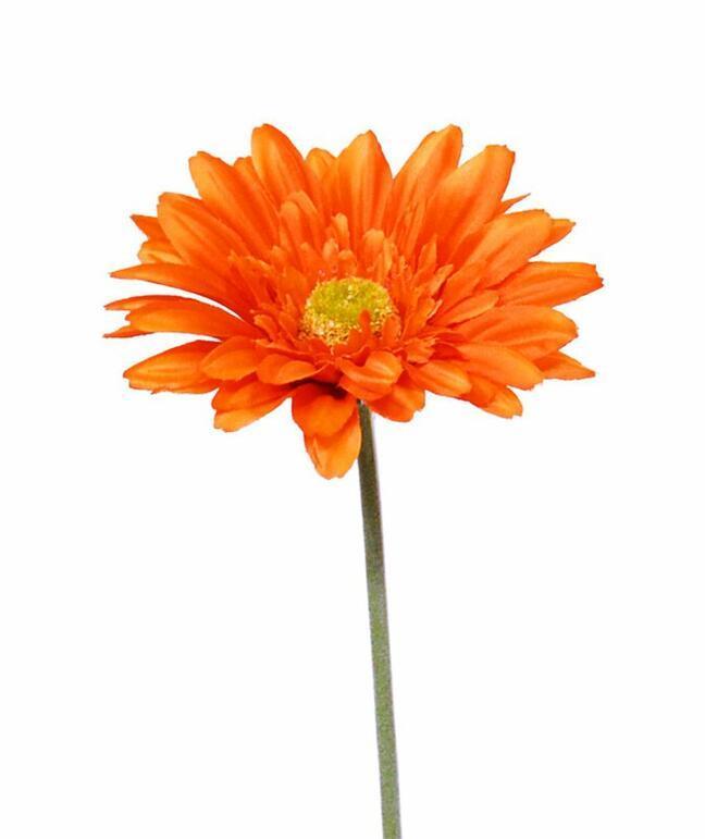 Umělý květ Gerbera oranžová 60 cm