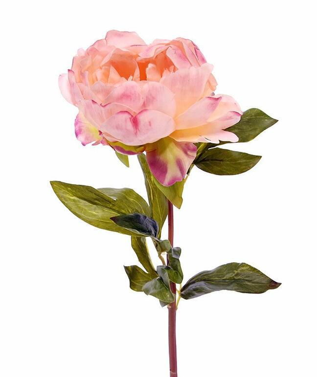 Umělý květ Pivoňka růžová 55 cm