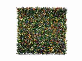 Umělý květinový panel Buxus vícebarevný - 50x50 cm