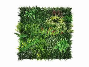 Umělý květinový panel Mix - 100x100 cm