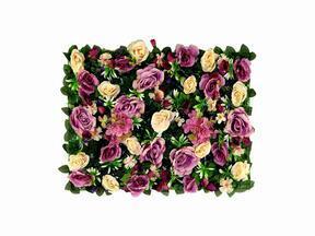 Umělý květinový panel Růže a Hortenzie - 40x60 cm