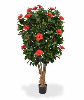 Umělý strom Ibišek červený 170 cm