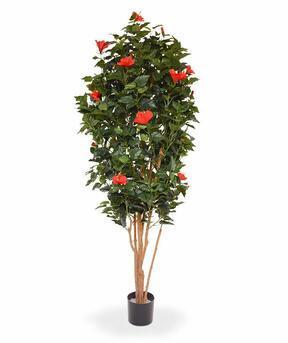 Umělý strom Ibišek červený 175 cm