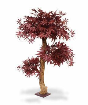 Umělý strom Javor burgundy 95 cm