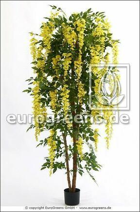 Umělý strom Štědřenec svěšený žlutý 180 cm