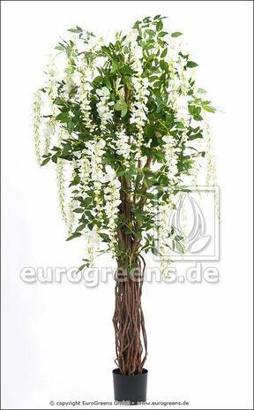Umělý strom Vistárie bílá 180 cm