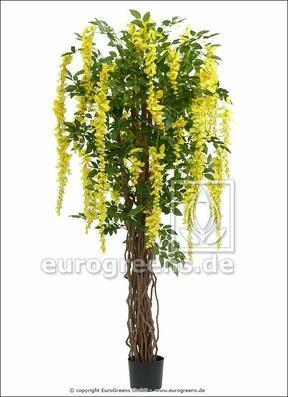 Umělý strom Vistárie žlutá 180 cm