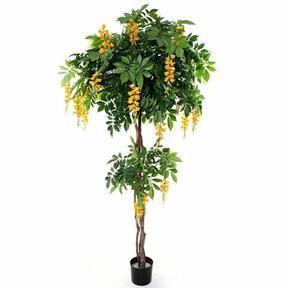 Umělý strom Vistárie žlutá 185 cm