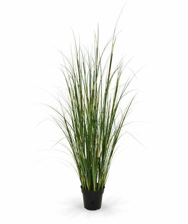 Umělý svazek trávy Bambus v květináči 80 cm