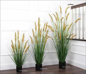Umělý svazek trávy Kamýš písečný v květináči 140 cm
